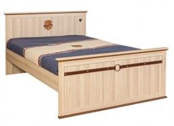 Študentská posteľ Cavalos 120x200cm - akácie svetlá/dub tmavý