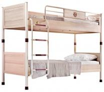 Poschodová posteľ Cavalos 90x200cm - akácie svetlá