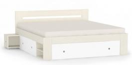 Manželská posteľ REA Larisa 180x200cm s nočnými stolíkmi - navarra