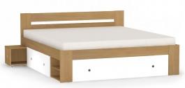 Manželská posteľ REA Larisa 180x200cm s nočnými stolíkmi - buk