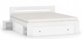 Manželská posteľ REA Larisa 180x200cm s nočnými stolíkmi - biela