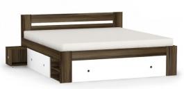 Manželská posteľ REA Larisa 180x200cm s nočnými stolíkmi - orech rockpile