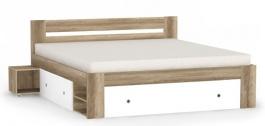 Manželská posteľ REA Larisa 180x200cm s nočnými stolíkmi - dub canyon