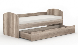 Detská posteľ so zásuvkou REA Kakuna 80x200cm - dub canyon