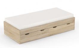 Detská posteľ s úložným priestorom REA Misty 90x200cm - dub bardolino