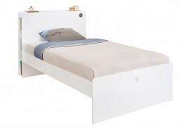 Študentská posteľ 120x200cm Pure - biela