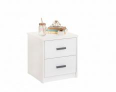 Nočný stolík Pure - biela