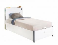 Detská vyklápacia posteľ Pure 100x200cm - biela