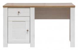Písací stôl DELUXE - smrekovec sibírsky / dub