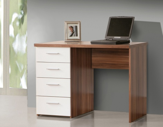 Písací stôl Net 106/935 - orech vlašský / biela