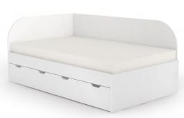 Posteľ s úložným priestorom REA Gary 120x200cm - biela