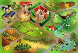 Detský koberec Farma 3D