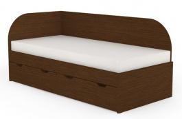 Detská posteľ s úložným priestorom REA Gary 90x200cm - wenge
