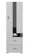 Nízka skriňa Delbert 8 - borovica/tmavo šedá
