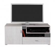 Televízny stolík Delbert 12 - borovica/tmavo šedá