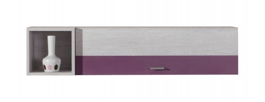 Závesná skrinka Delbert 14 - borovica/fialová