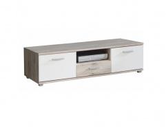 Televízny stolík Beach - dub pieskový / biela