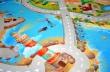 Detský koberec Mesto s plážou