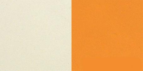 krémová/oranžová