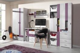 Detská izba Delbert A1 - borovica/fialová