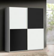 Šatník Express -biely / čierny Uni mat -V17