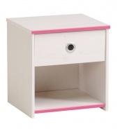 Detský nočný stolík Smoozy modrý alebo ružový