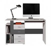 Písací stôl Delbert 13 - borovica/tmavo šedá