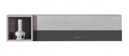 Závesná skrinka Delbert 14 - borovica/tmavo šedá