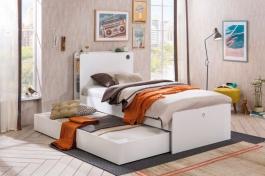 Detská posteľ s prístelkou Pure - biela