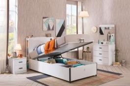 Zostava s výklopnou posteľou Pure - biela