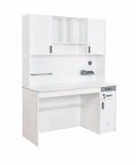 Veľký písací stôl s nadstavcom Pure - biela