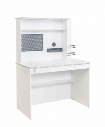 Malý písací stôl s nadstavcom Pure - biela