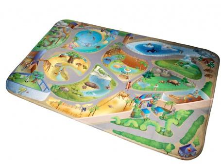 Detský koberec ZOO 3D