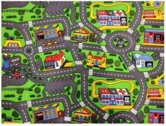 Detský hrací koberec Rally -City Life