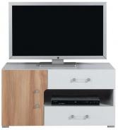 Televízny stolík nízky Anabel 12 - brest/biela lux