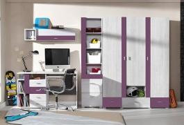 Detská izba Delbert C1 - borovica/fialová