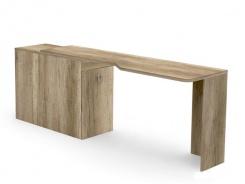 Písací stôl REA Teeny s kontajnerom L/P - dub canyon