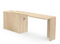 Písací stôl REA Teeny s kontajnerom L/P - dub bardolino