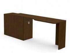 Písací stôl REA Teeny s kontajnerom L/P - wenge