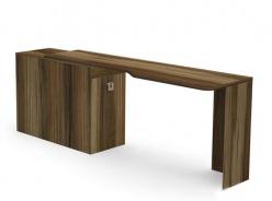 Písací stôl REA Teeny s kontajnerom L/P - orech rockpile