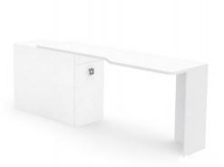 Písací stôl REA Teeny s kontajnerom L/P - biela