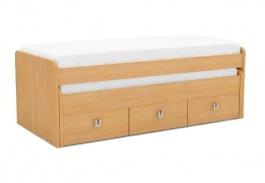 Detská posteľ REA Teeny 90x200cm s výsuvným lôžkom a úložným priestorom - buk