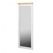Zrkadlo Monako II - biela/svetlo hnedá