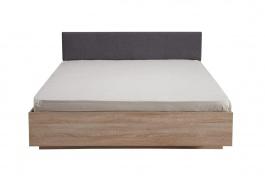 Manželská posteľ 160x200cm Arwen - dub sonoma/šedá
