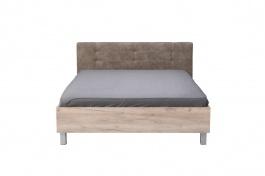 Manželská posteľ 160x200cm Ciri - dub sivý/sivá