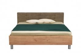 Manželská posteľ 180x200cm Ciri - dub zlatý/sivá