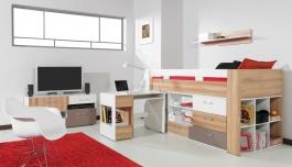 Detská izba Anabel E - brest/biela lux/cappucino