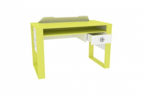 Písací stôl Messi - zelená/biela