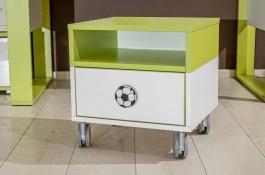 Detský nočný stolík Messi - zelená/biela
