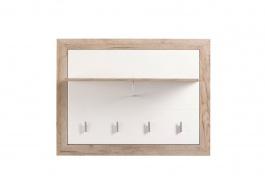 Vešiakový panel Shine - dub sivý/biela
